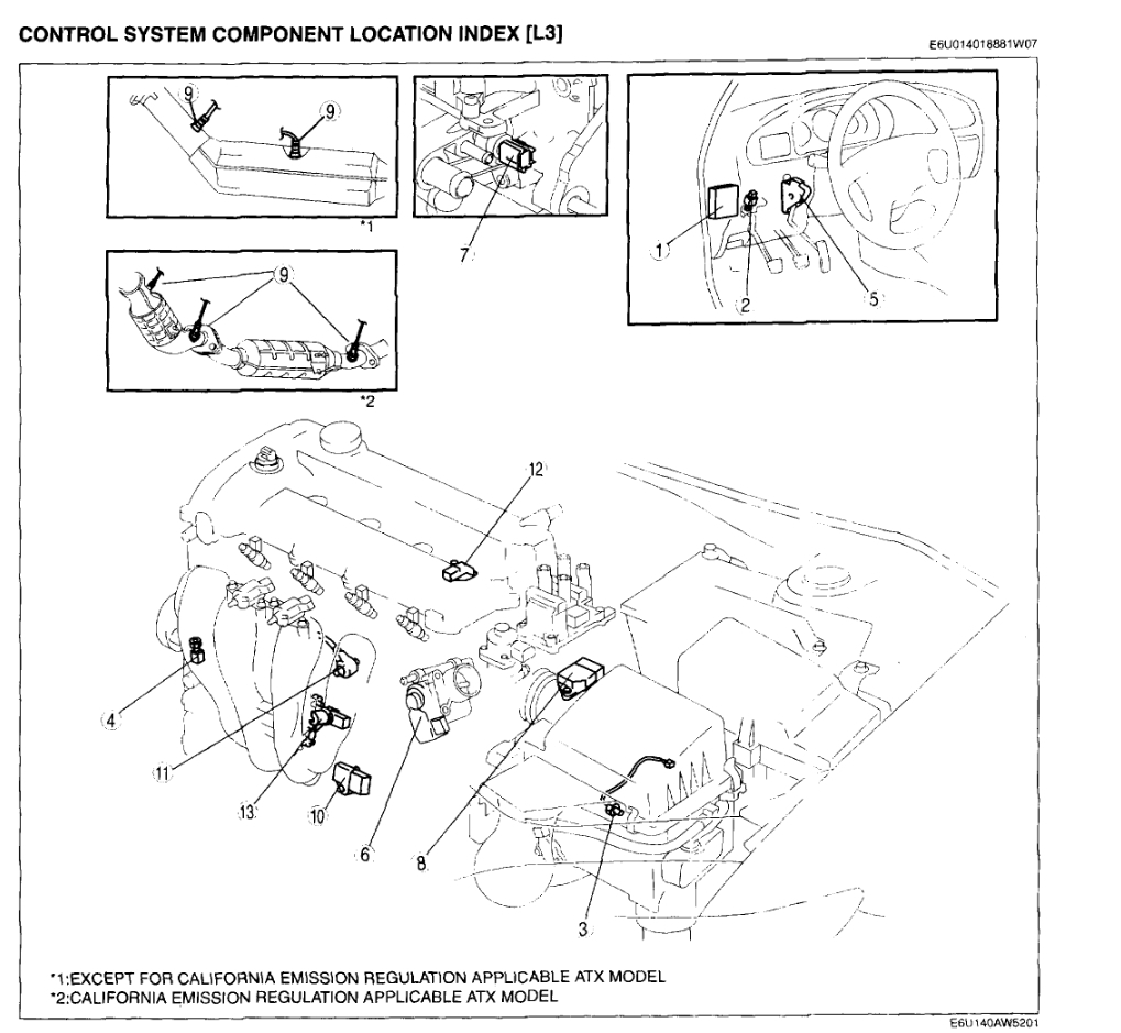 Crankshaft Position Location  2 3 L Engine  The Check