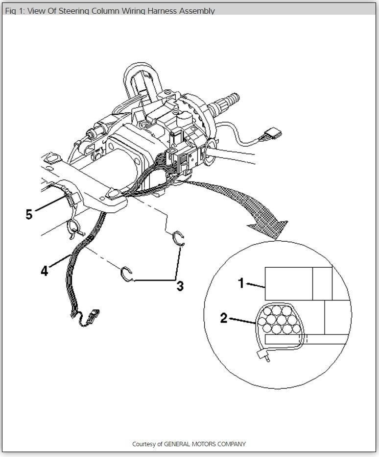 1999 Chevy Steering Column Diagram