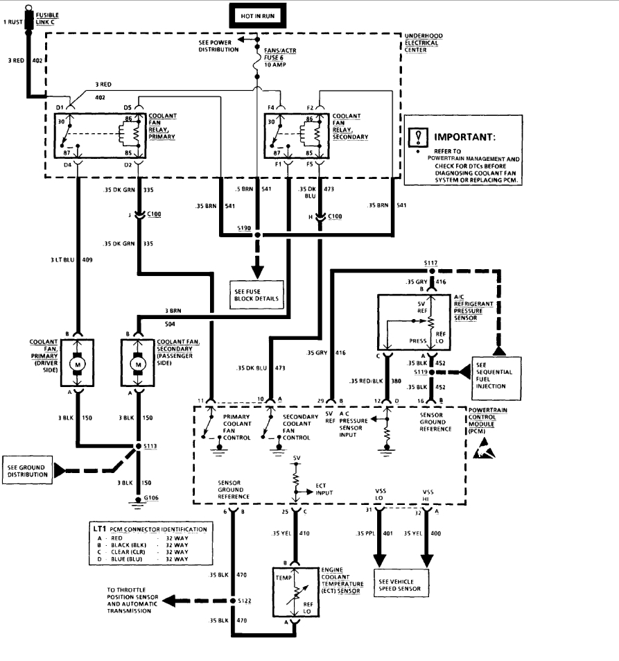 cooling fan wiring: i have a 1994 camaro that when i ... 00 camaro cooling fan wiring diagram 1992 camaro cooling fan wiring schematic