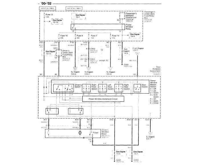 Power Window Switch Wiring Diagram  Can I Get Detail About Master