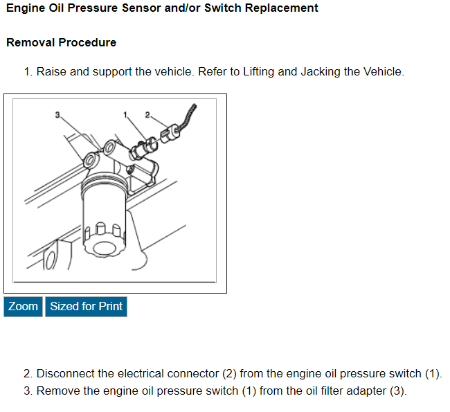 Replace Oil Pressure Sending Unit: Need to Remove the Oil Filter