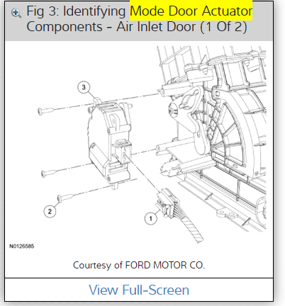 Driver Side Blend Door Actuator Replacement When Ac Is Turned On. Ford. 2008 Ford Edge Ac Duct Schematic At Scoala.co