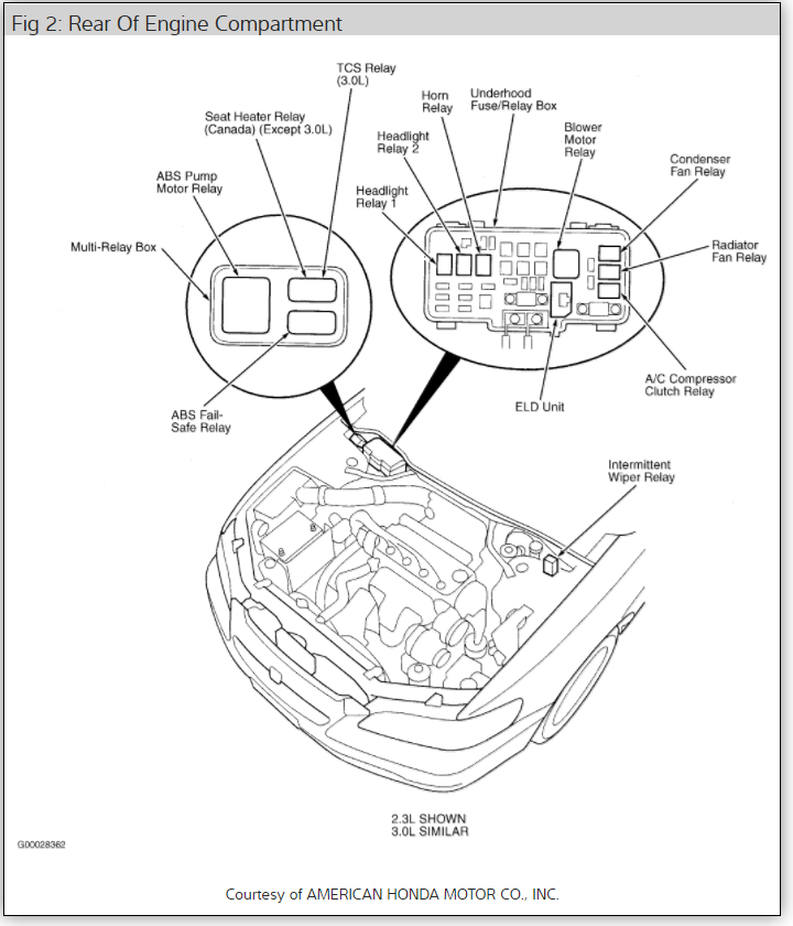 Honda Accord 1997 Engine Diagram