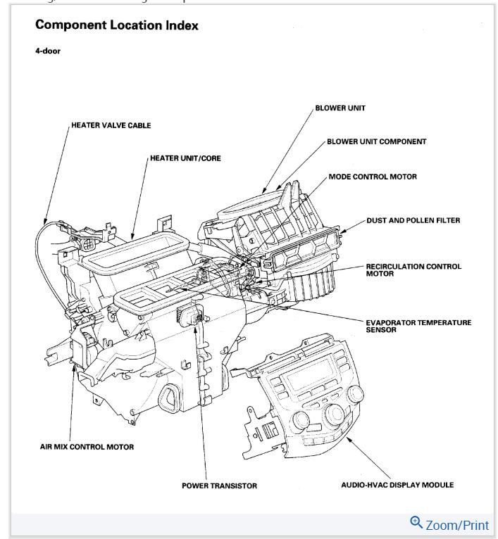 Blend Door Actuator I Have A 2006 Honda Accord Ex V6 Often But