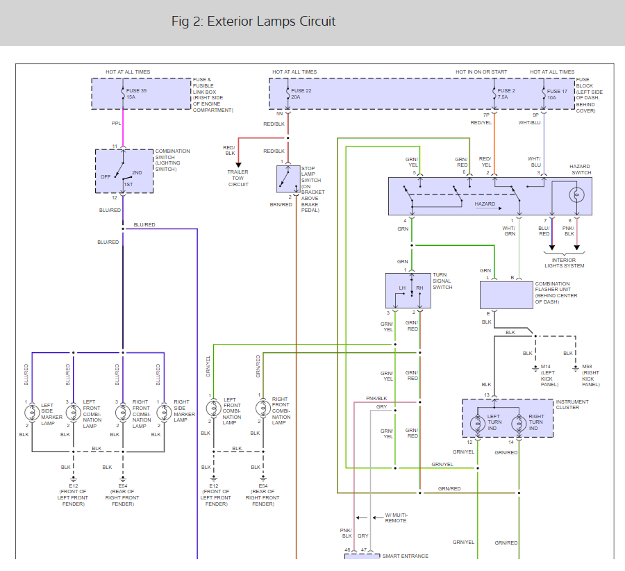 on 2002 nissan frontier turn signal wiring diagram