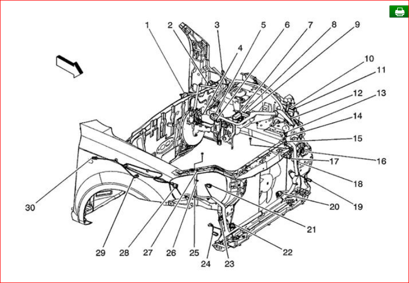 Engine Compartment Components Diagram  Engine Compartment