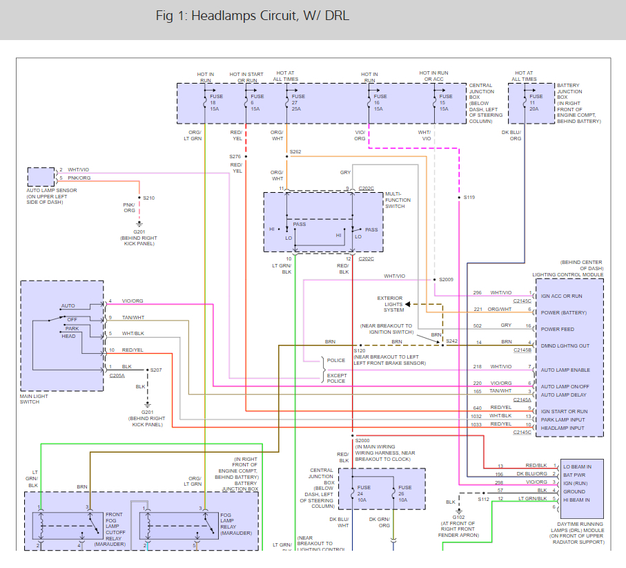 Wiring Diagram Pdf  2003 Ford Crown Victoria Wiring Diagram