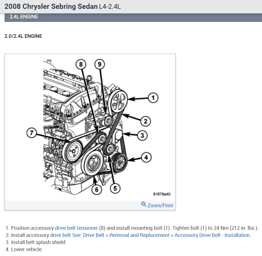 2008 Sebring Engine Diagram Wiring Will Be A Thing 2009 Chrysler Drive Belt Routing I Need Rh 2carpros Com Interior
