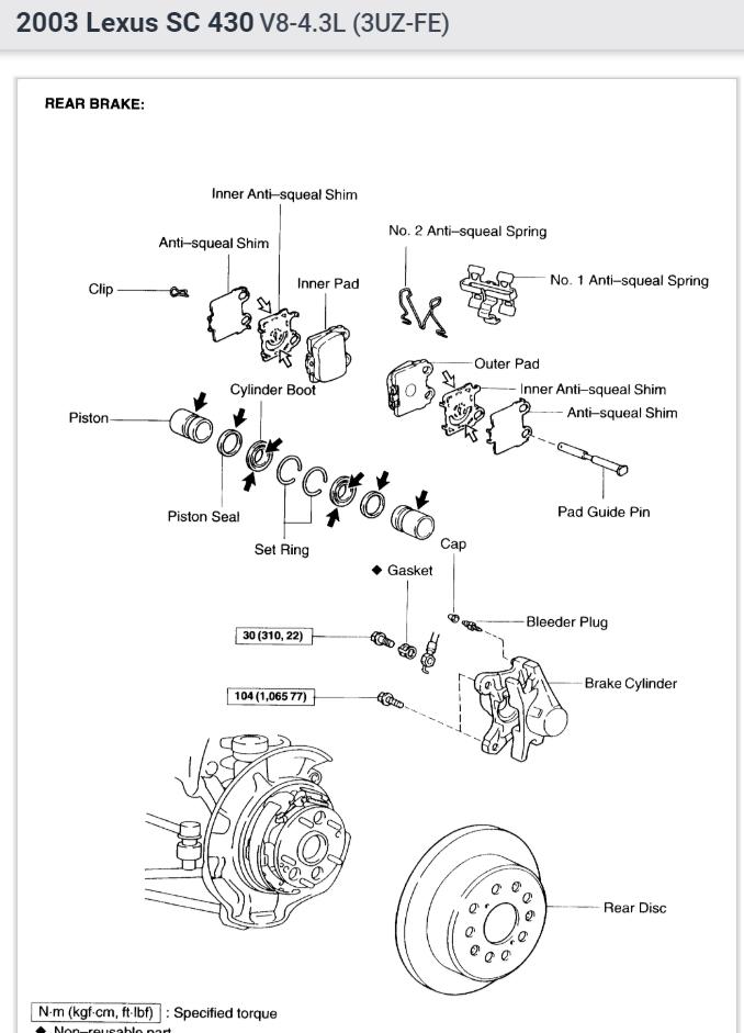 Rear Brake Pads  How To Change Rear Brake Pads On Sc 430