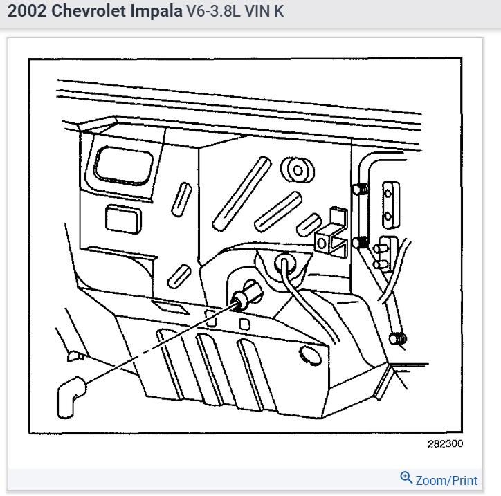 Location Of Ac Drain Tube My 2002 Impala Is Not Draining