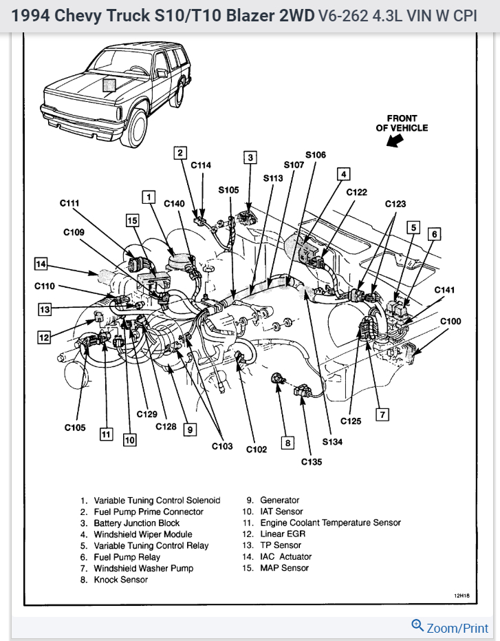1994 chevy s10 engine diagram wiring schematic diagram Chevy 1500 Wiring Diagram