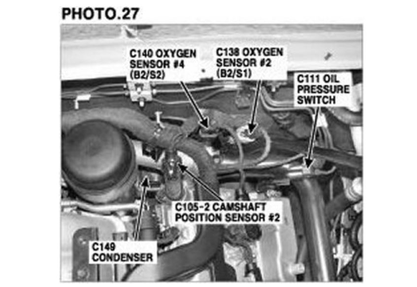 Camshaft Sensor Bank 2 Sensor a Location, Code P0018