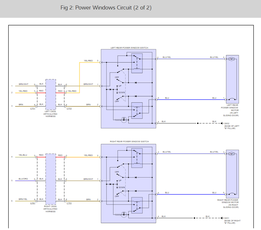 Power Window Wiring Diagram?: the Driver Window Works Fine. All ...2CarPros