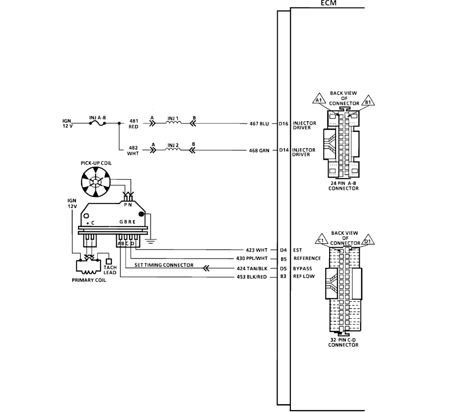 Chevrolet Pickup C1500 Wiring Diagram And Electrical Schematics 1997