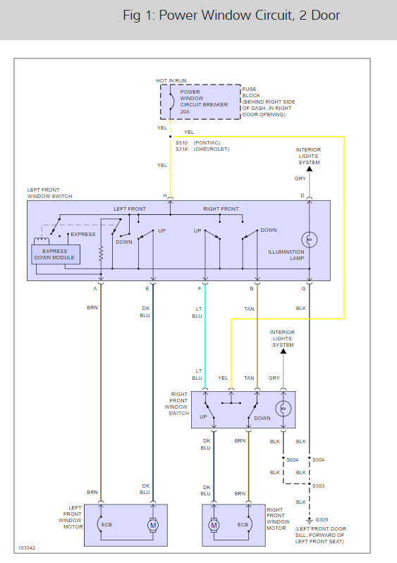 How Do I Bypass The Wires To Roll Up Driver Side Windowrh2carpros: 1999 Pontiac Grand Prix Power Window Wiring Diagram At Gmaili.net