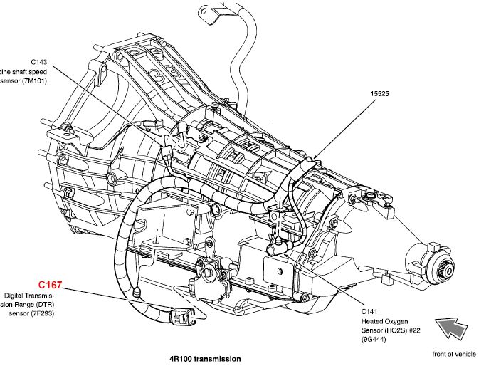 ford 4r100 transmission wiring diagram ford transmission