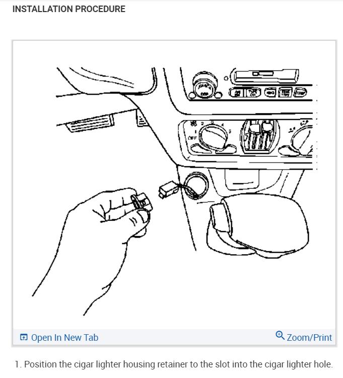 Chevrolet Impala Cigarette Lighter Wiring Diagram