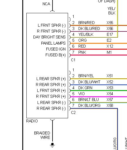 2001 Dodge Ram Radio Wiring Diagram Images