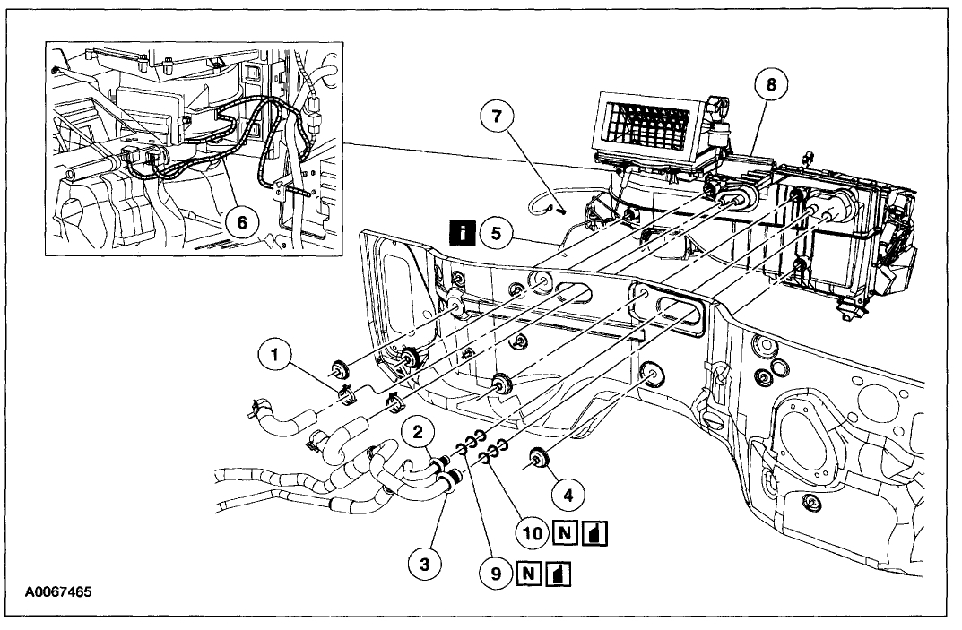 2004 ford expedition heater core diagram