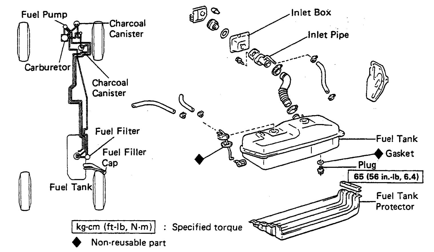 1986 Toyota Pickup Fuel System Diagram - Wiring Diagram Features