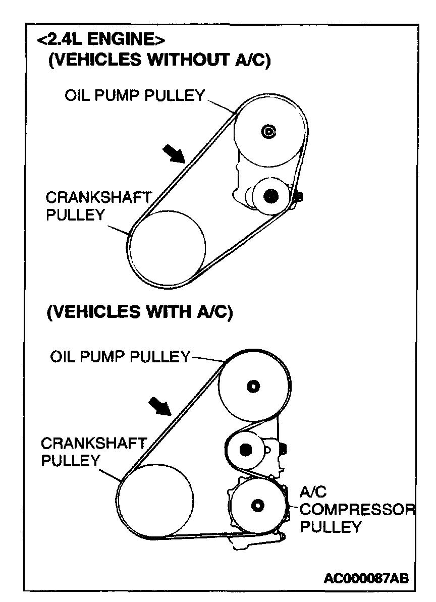 Bypass A C Compressor Belt Size Bad A C Compressor Due To Bad