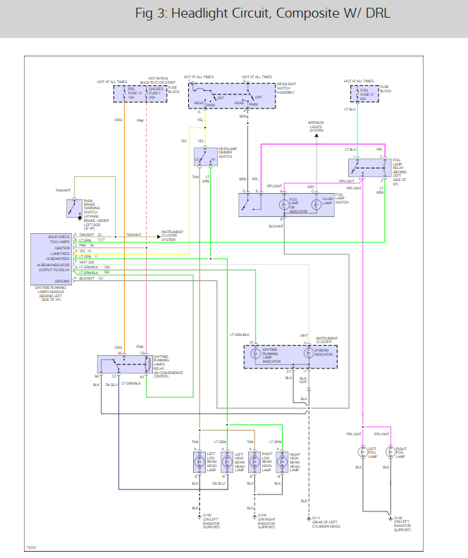 Headlight Wiring Diagram Looking For A Headlight Wiring Diagram
