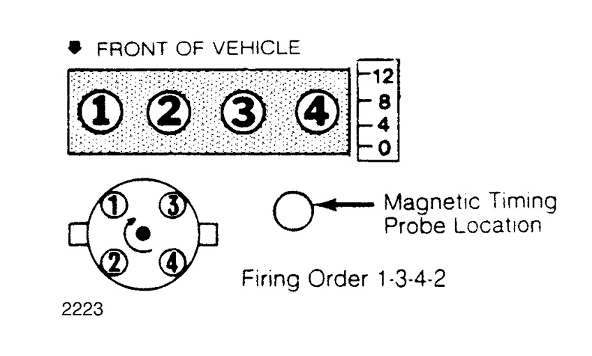 1999 ford mustang firing order diagram  ford  auto parts