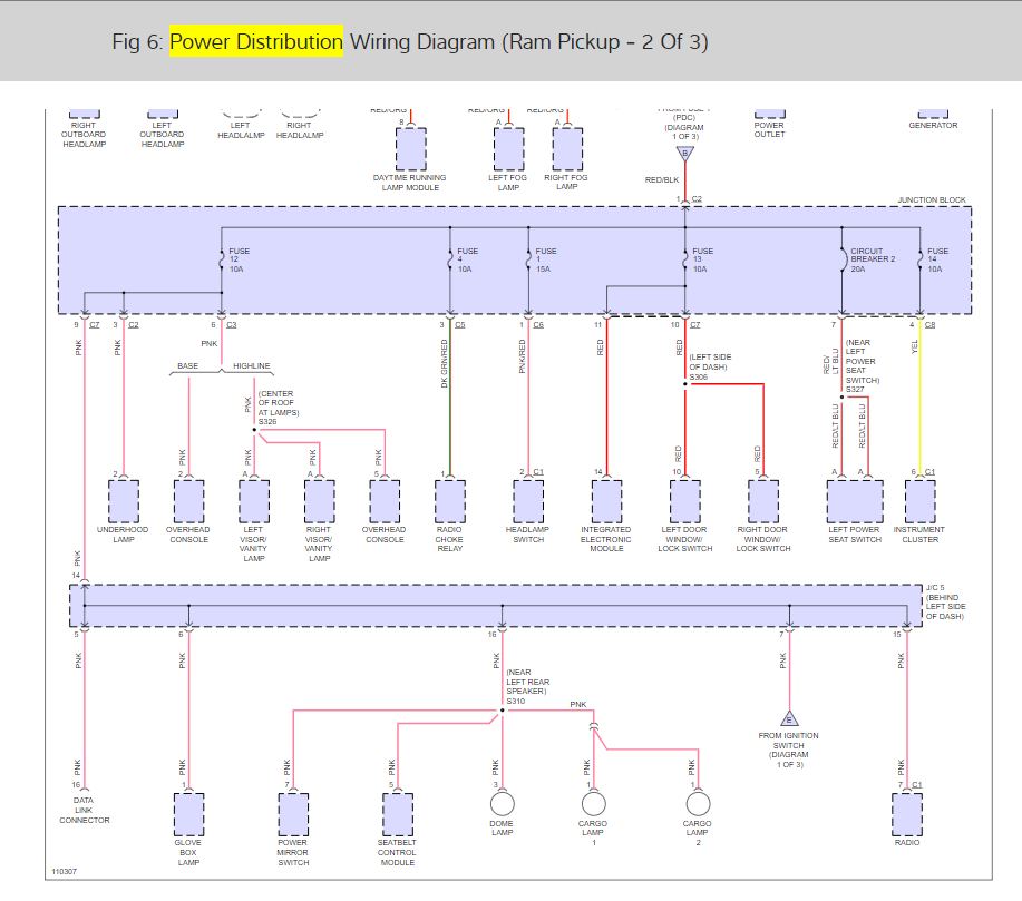 Power Distribution Center Wiring Diagram I Have A 2500 5 9l
