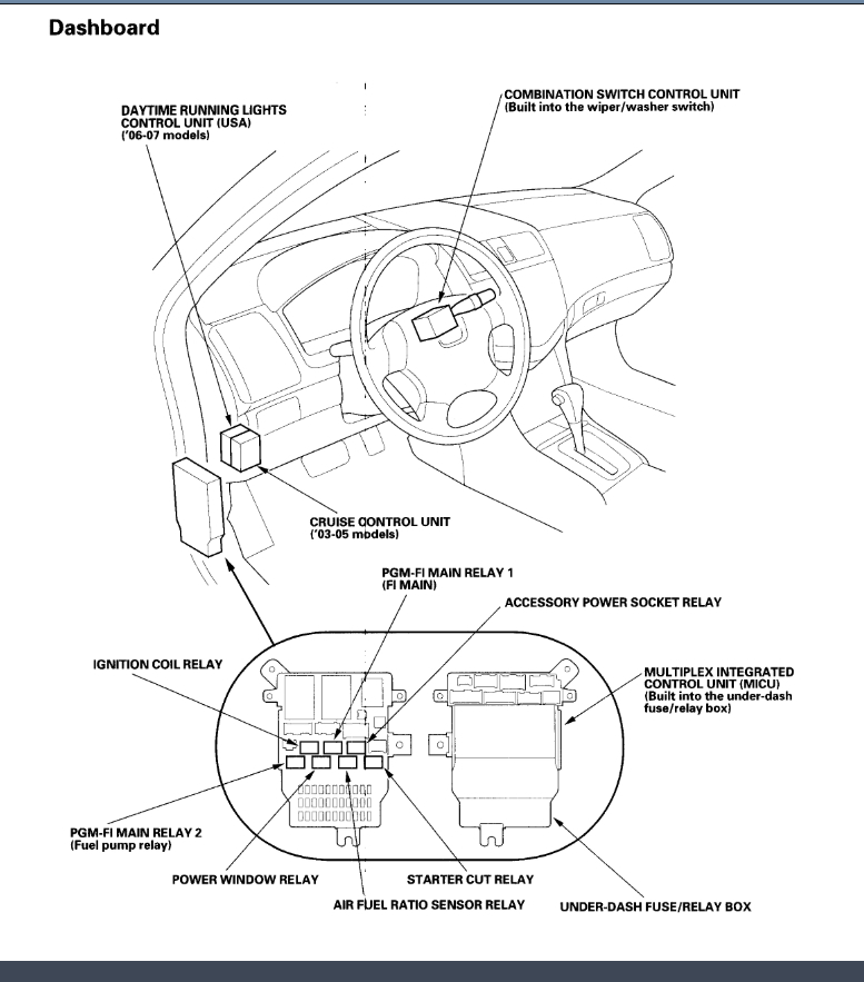 Honda Civic Main Relay Location On 90 Honda Accord Ex Engine Diagram