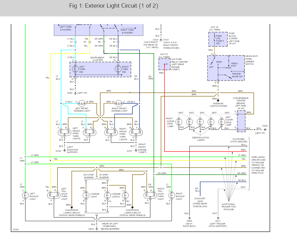 turn signal flasher location? signals not working  2000 chevy 3500 hazard wiring diagram #7