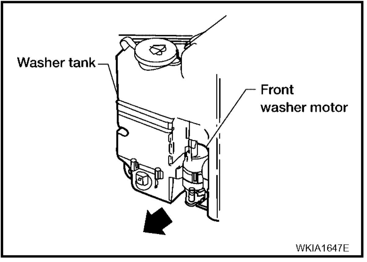 Nissan Titan Windshield Washer Pump  Windshield Washer Fluid Pump