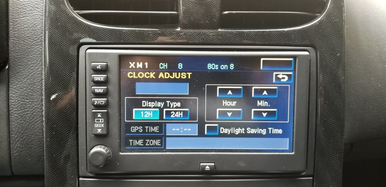 Clock Is Blank: Hi, I Had the Navi Radio Out to Install a GM