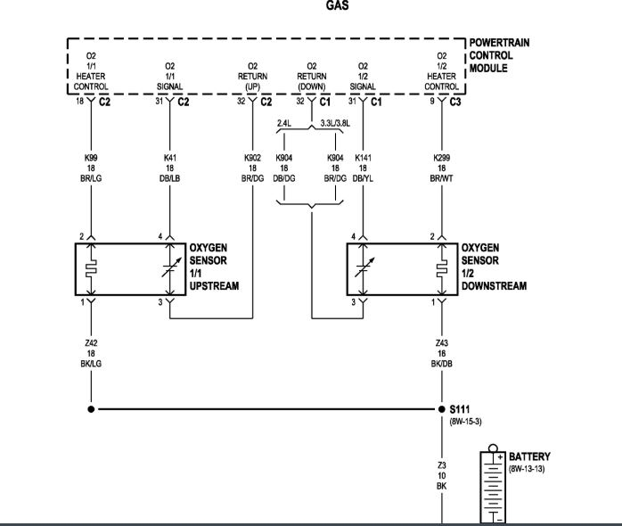 Wiring Diagram To Follow Wires From O2 Sensor To Tipm