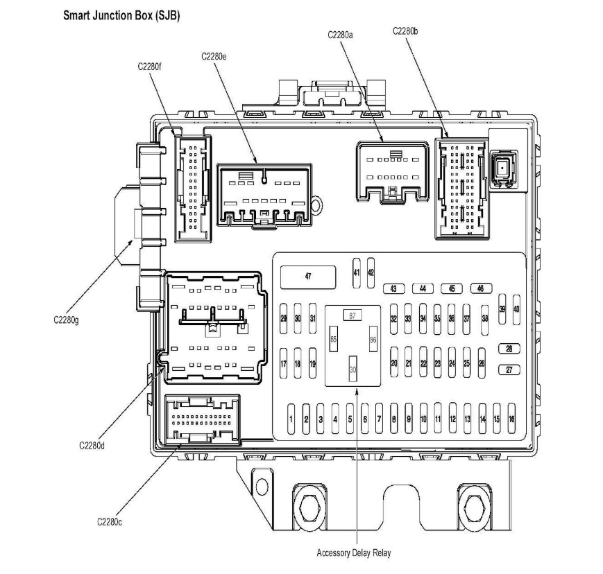 2013 Ford Focus Instrument Cluster Fuse Diagram