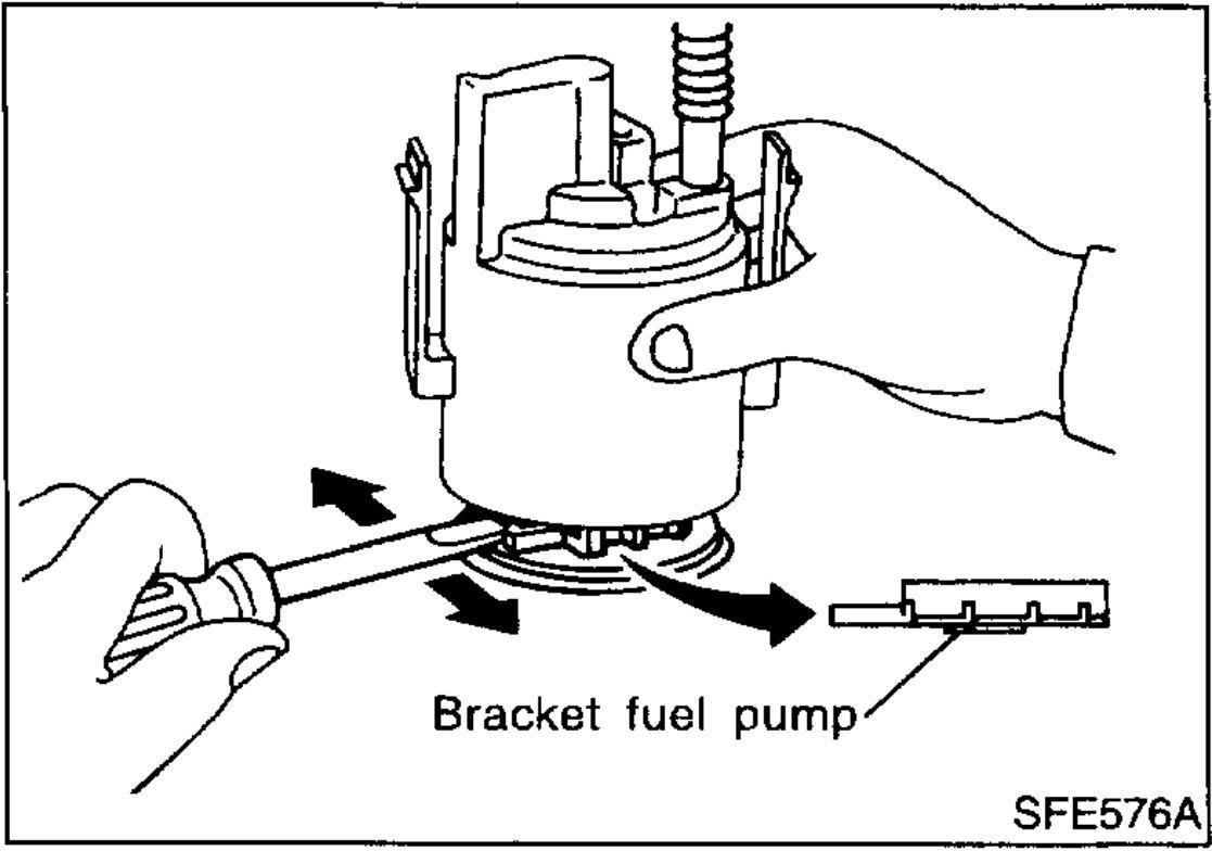 2006 nissan sentra 1.8 s fuel filter location