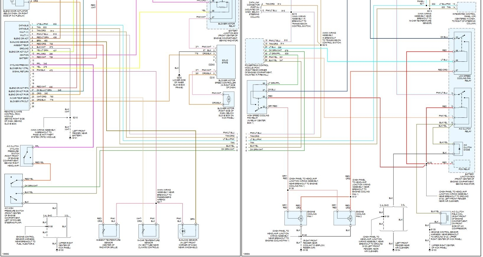 2006 ford taurus fuse box diagram location of heater fuse or relay hi  blower motor for heater and  location of heater fuse or relay hi