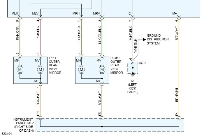 Side Mirrors Wiring Diagram  I Need The Wiring Diagram Of