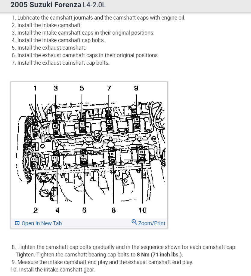 Show Me A Diagram On The Order How To Torque Cam Bolts