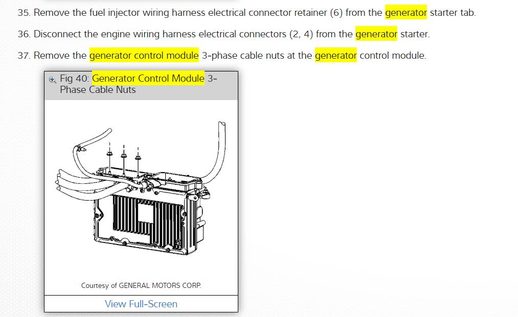 2007 saturn vue hybrid starter generator control module