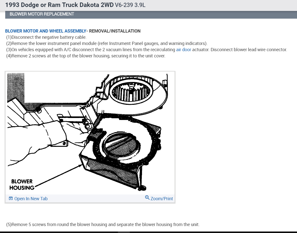 Blower Motor On 2002 Ford F150 Motor Repalcement Parts And Diagram