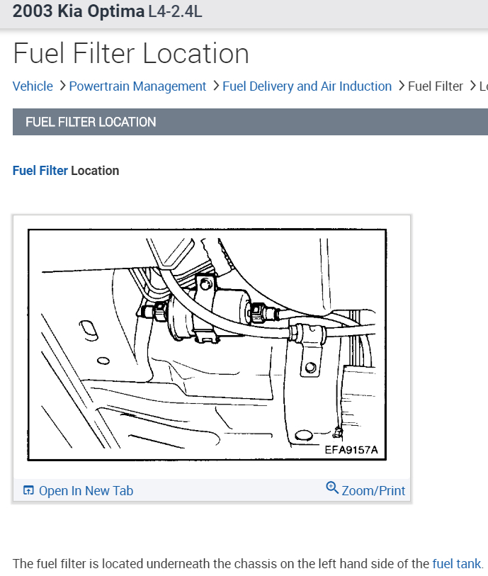 [SODI_2457]   Fuel Filter: Where Is the Fuel Filter Located and How Do You ... | 2004 Kia Rio Fuel Filter |  | 2CarPros
