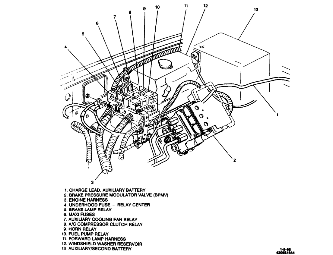 Fuel Pump Relay  Location Of Fuel Pump Relay On 1995 1  2 Ton Chevy