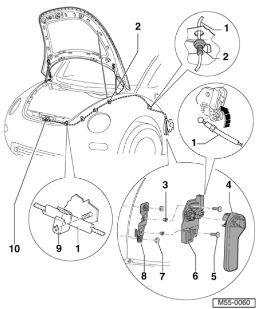 How To Open Hood Lever Inside Does Not Have Cable Attached And