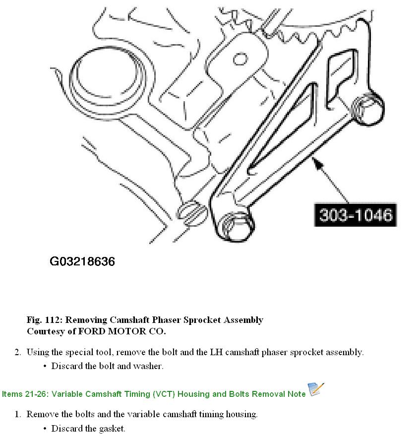 Ford 5 4 Phaser Replacement further 201498891896 furthermore 3 0 Nissan Timing Marks Diagram likewise Variable Camshaft Timing Oil Control Solenoid Ford F150 moreover Final Repair Guide 5 4 Cam Phaser Tick Knock Sound 141266. on 2004 ford f 150 cam phaser