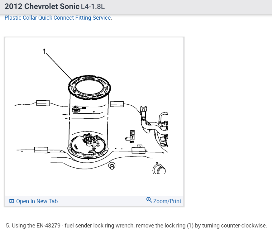 Fuel Filter Replacement I Have A 2012 Chevy Sonic And Every Time