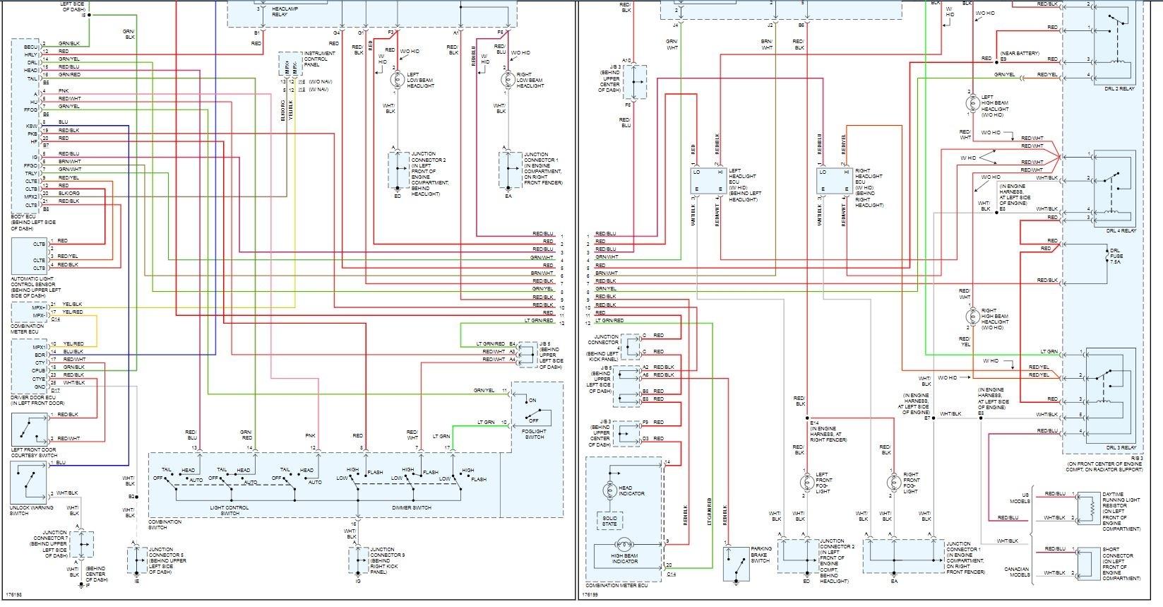 lexus is300 headlight wiring diagram my lexus rx 300 2003 high beam headlights are not working high  lexus rx 300 2003 high beam headlights