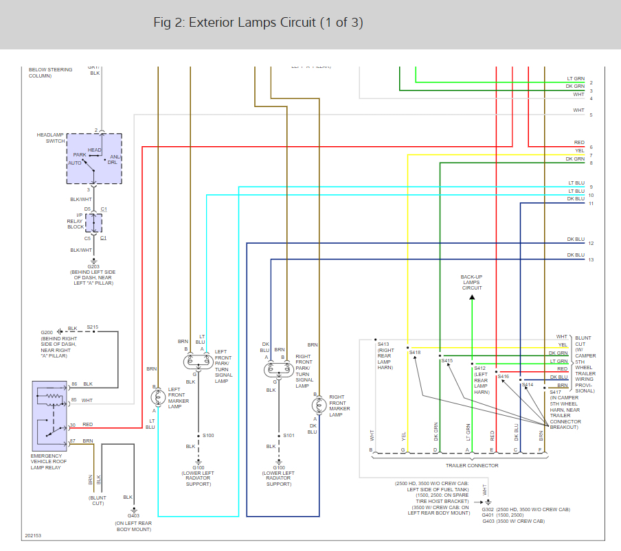 2005 Chevrolet Silverado Wiring Diagram from www.2carpros.com