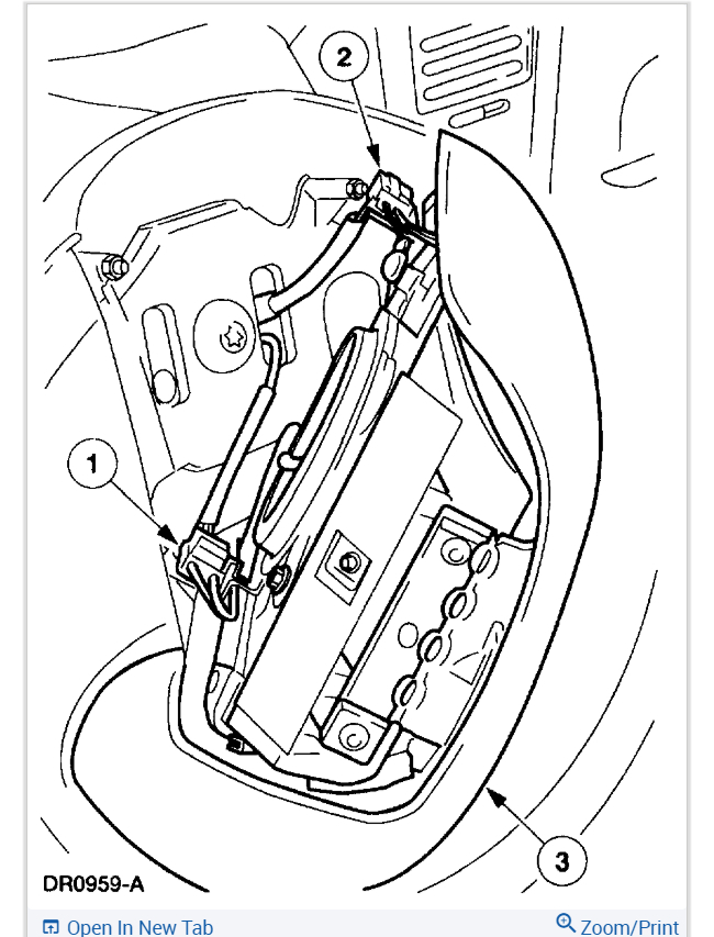 Airbag Module Im Looking To Find The Location Of The Airbag