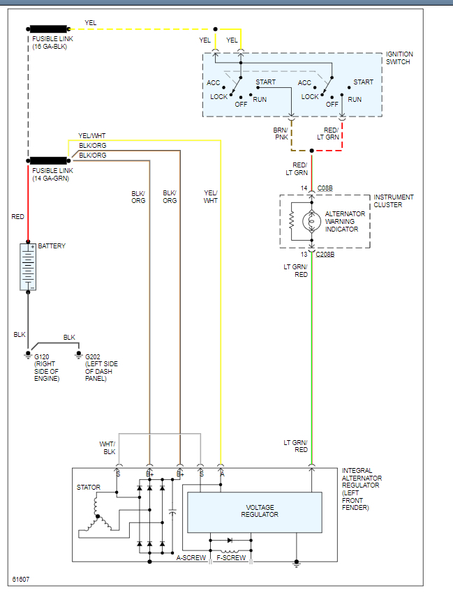 Wiring Diagram For Alternator  Could You Please Tell Me