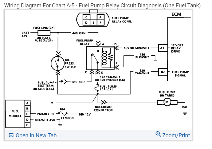 Pump Wiring Diagram   How Can I Jump Around The Fuel Pump Relay
